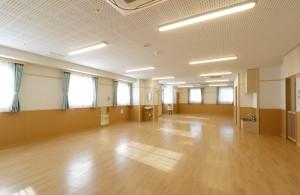 広々とした保育室